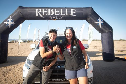 mitsubishi motors at the rebelle rally