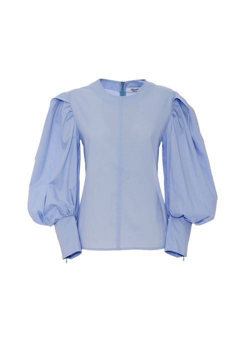 Blue, Sleeve, Collar, Textile, White, Electric blue, Fashion, Azure, Cobalt blue, Uniform,