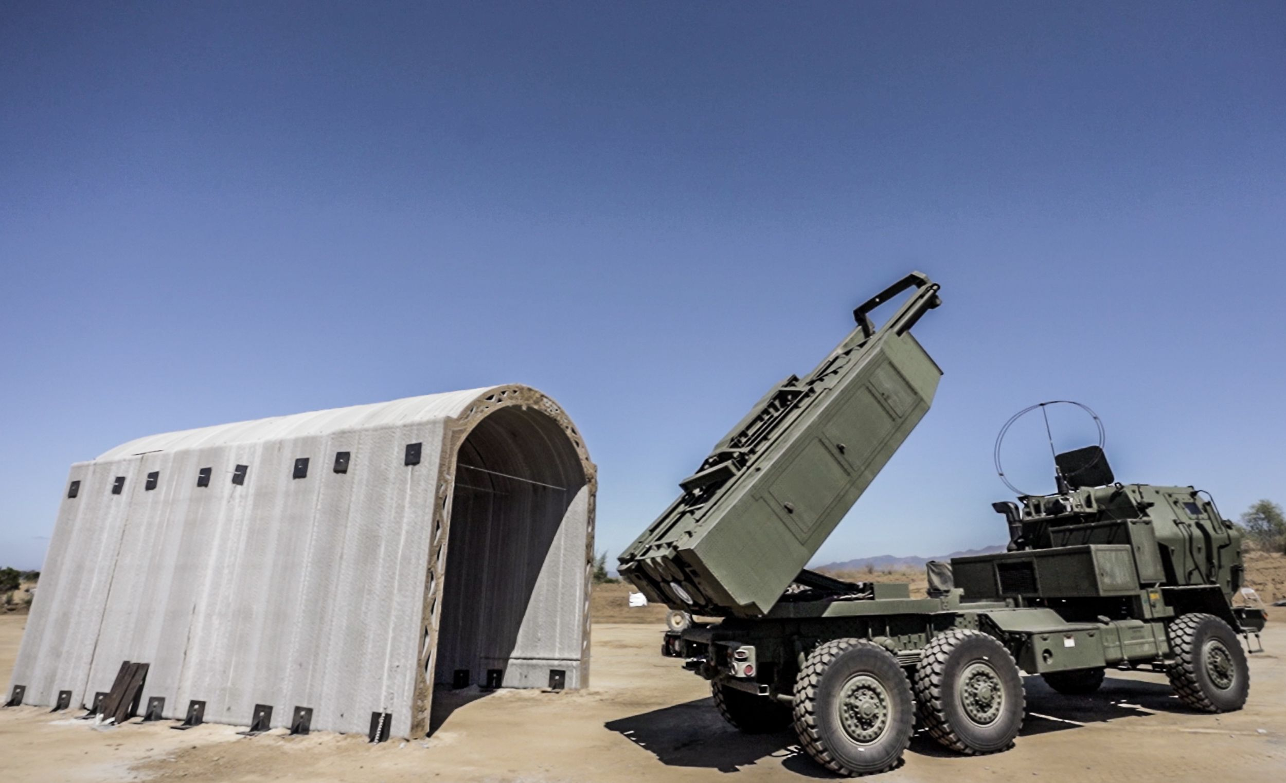 The Marines 3D-Printed a Rocket Launcher Shelter in 36 Hours