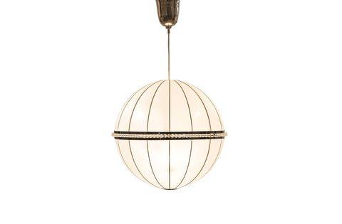 Lighting, Ceiling, Light fixture, Pendant, Ceiling fixture, Beige, Jewellery, Fashion accessory, Metal, Oval,