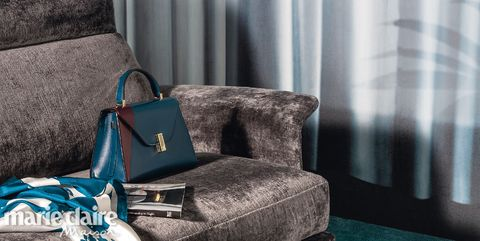 Blue, Green, Turquoise, Furniture, Teal, Couch, Room, Bag, Chair, Interior design,