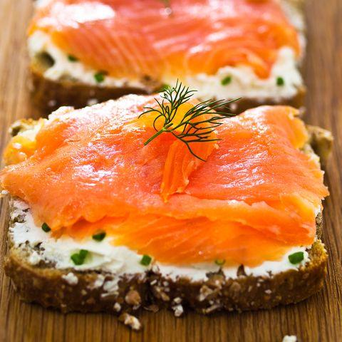 Plat, cuisine, saumon fumé, Lox, nourriture, saumon, saumon, poisson, ingrédient, garnir,