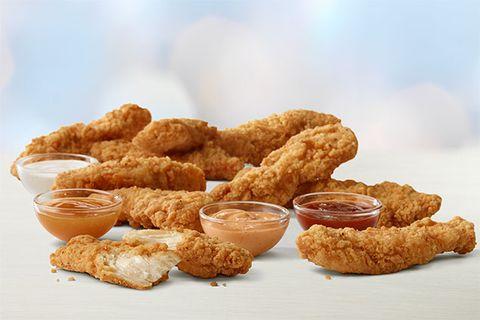 Dish, Food, Cuisine, Fried food, Crispy fried chicken, Fast food, Ingredient, Chicken nugget, Fried chicken, Finger food,
