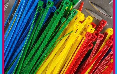 Colored zip ties