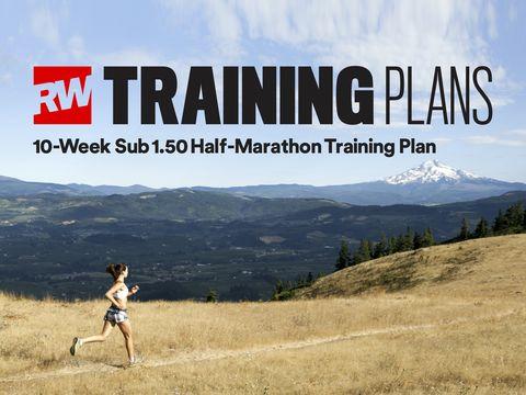 10-week sub 1:50 half marathon training plan