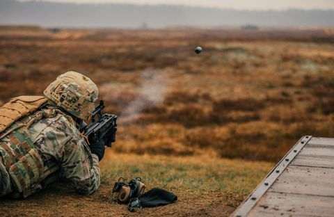 Soldier, Military, Army, Infantry, Military organization, Marines, Military camouflage, Landscape,