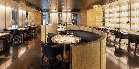 Property, Room, Building, Interior design, Restaurant, Furniture, Table, Real estate, Cafeteria, Floor,