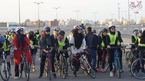 Jeddah Woman CyclistSaudi Women's Bike Race