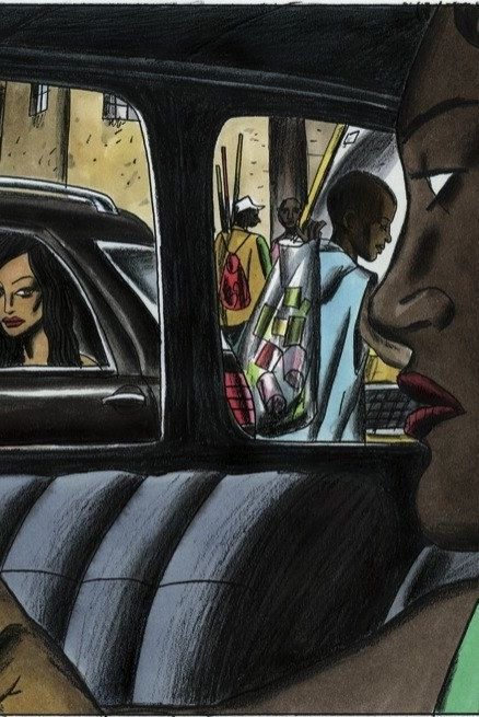Vehicle door, Automotive design, Art, Cartoon, Vehicle, Illustration, Car, Painting, Fictional character, Fiction,