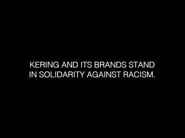 ケリングおよび全てのグループ・ブランドが、反人種差別活動への連帯を表明