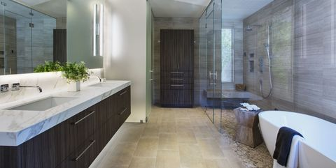 Chic Bathrooms With Floating Vanities
