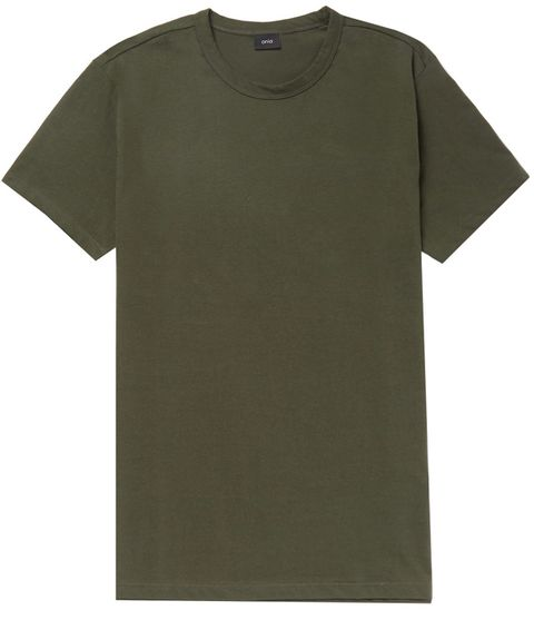 T-shirt, Clothing, Sleeve, Active shirt, Green, Khaki, Top, Pocket,