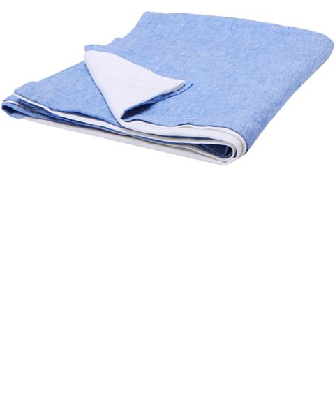 Blue, Linens, Textile, Mattress pad, Bedding, Blanket, Furniture,
