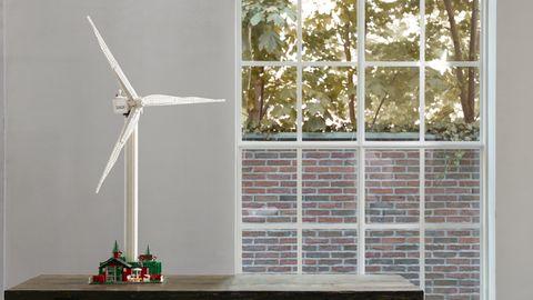Windmill, Wind turbine, Wind, Wind farm, Window, Room, Machine, Floor, Plant, Wheel,