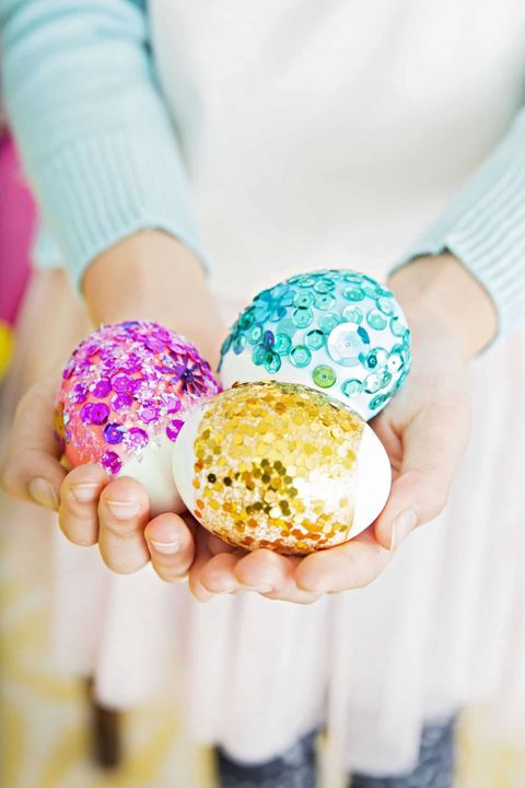 sparkly geode Easter eggs