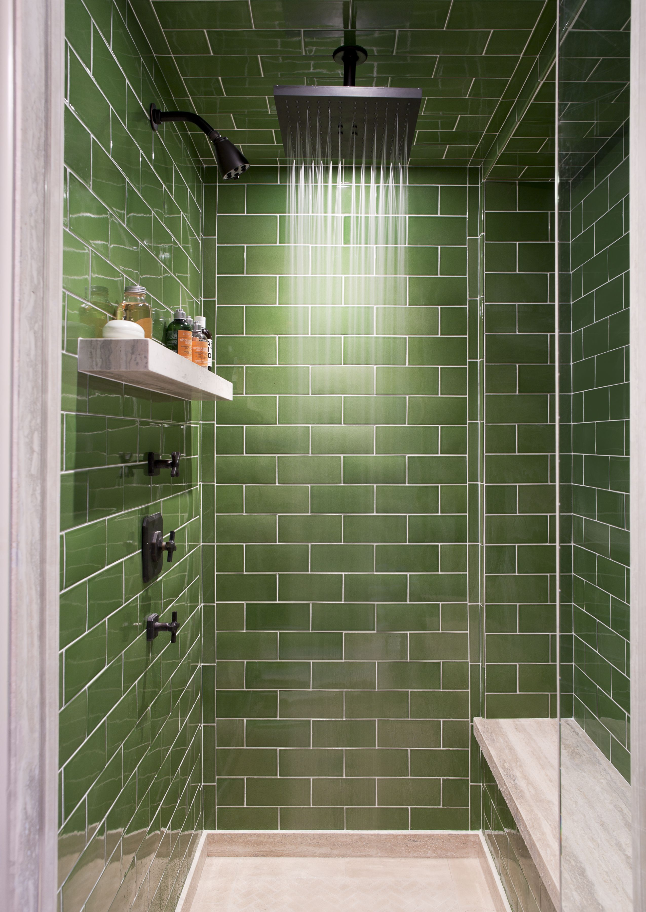 Creative Blue And Green Tiled Bathrooms