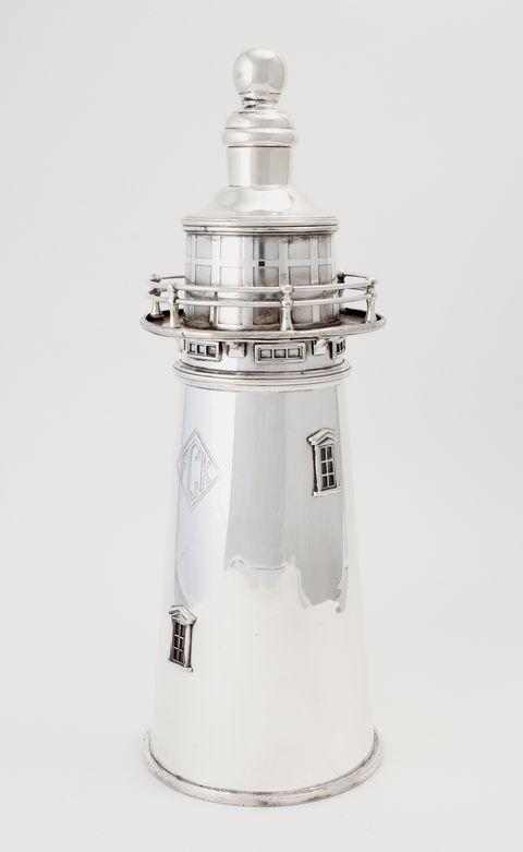 sothebys barware silver lighthouse shaker