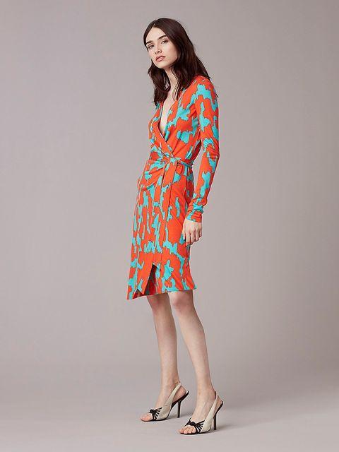 2d0773edfb587f What to Shop at Diane Von Furstenberg s Sale - DVF Wrap Dress On Sale