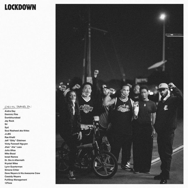 """cover art for anderson paak 's single """"lockdown"""" which chronicles protests and black lives matter in the time of pandemic"""
