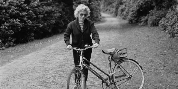 Vintage Celebrities Cycling In Style