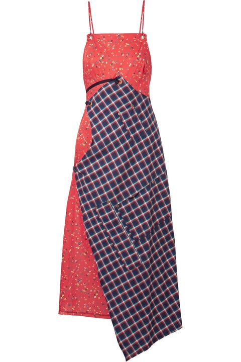 Clothing, Day dress, Dress, Red, Pattern, Textile, Design, Cocktail dress, Pattern, One-piece garment,