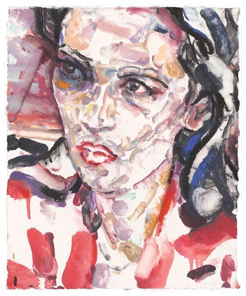 elizabeth peyton's portrait of alexandria ocasio cortez