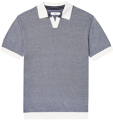 Clothing, T-shirt, Collar, Sleeve, Polo shirt, Grey, Outerwear, Top, Pattern,