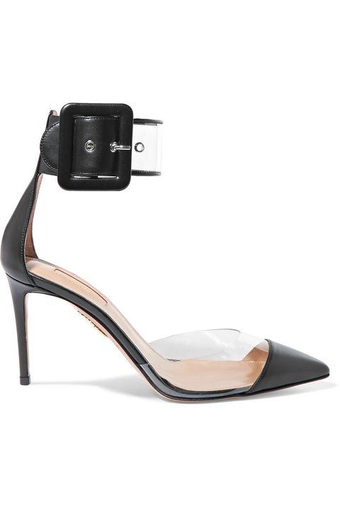 Footwear, Sandal, Slingback, Shoe, High heels, Strap, Beige, Court shoe, Buckle,