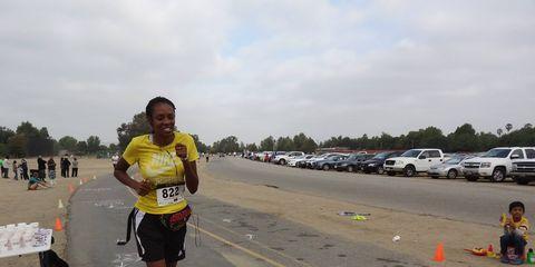 Robin  Henry running her first 5K