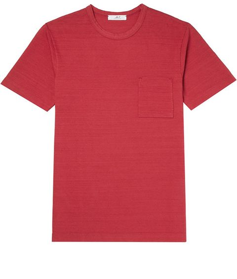 T-shirt, Clothing, Red, Sleeve, Active shirt, Pink, Top, Pocket, Carmine, Sportswear,