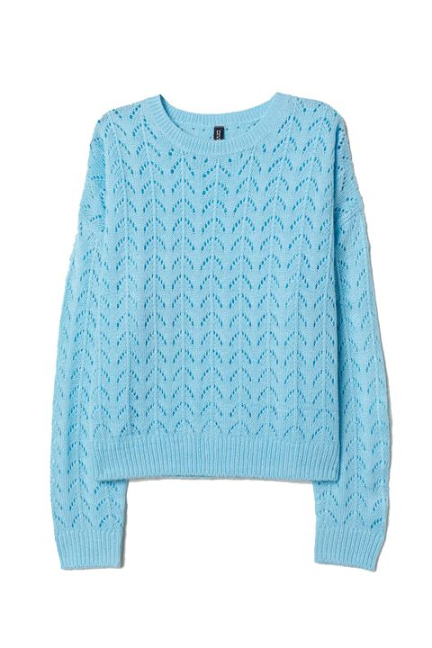 Clothing, Blue, Turquoise, Sleeve, Sweater, Aqua, Outerwear, Teal, Top, Turquoise,
