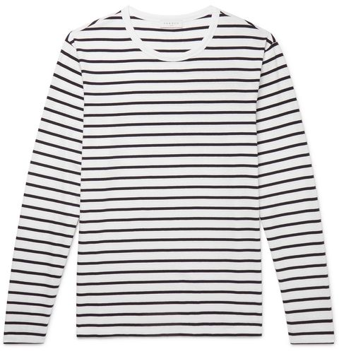 Clothing, White, Sleeve, Long-sleeved t-shirt, Outerwear, T-shirt, Sweater, Top, Collar,