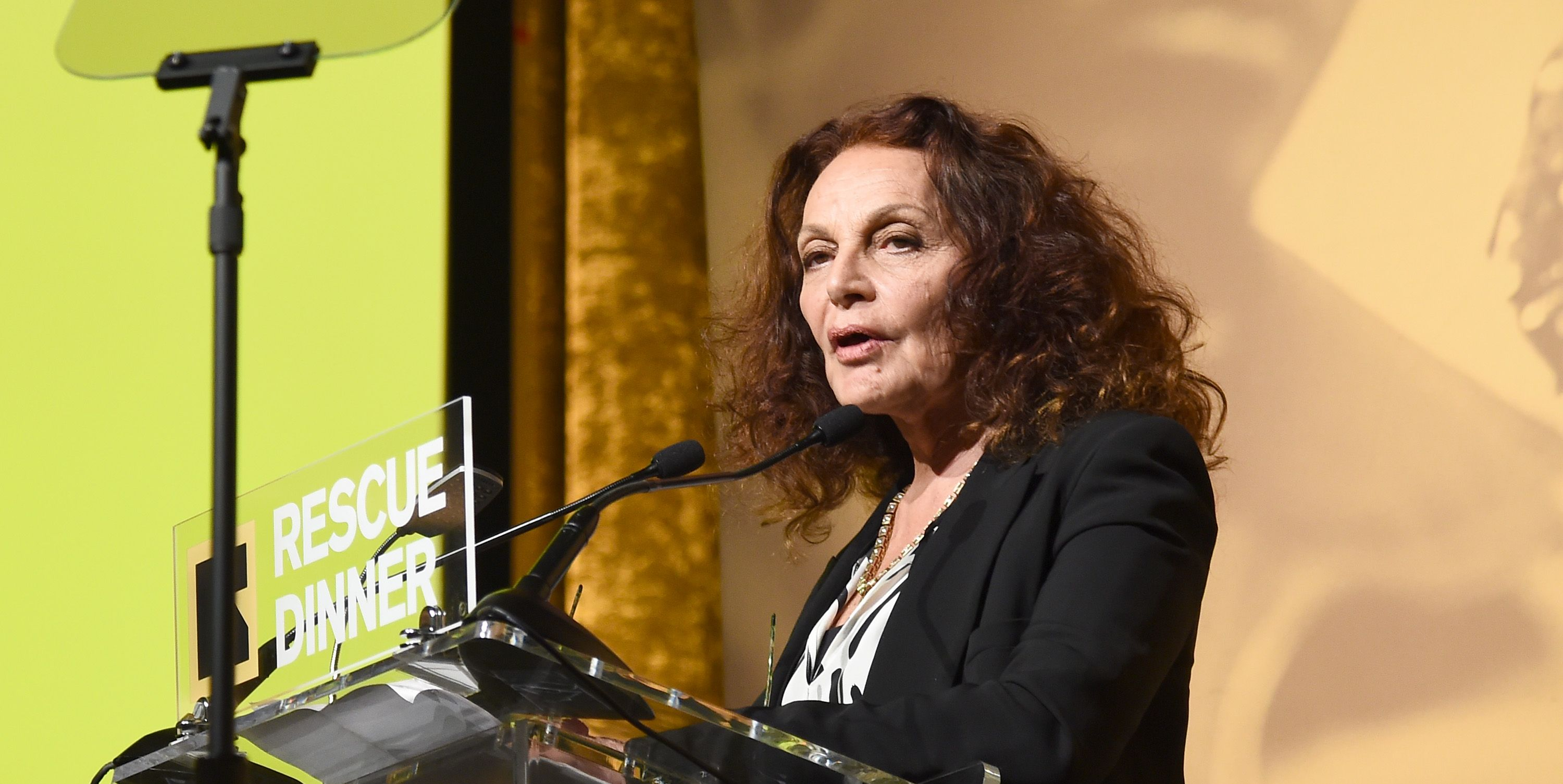Fashion designer and philanthropist Diane von Furstenberg and BlackRock Chairman and CEO Larry Fink were honored on November 1 at the International Rescue Committee's annual Rescue Dinner Benefit. The evening, which raised $16.8 million to support IRC's global humanitarian work, was held at the New York Hilton Midtown and featured a musical performance by Broadway star Arianna Rosario.
