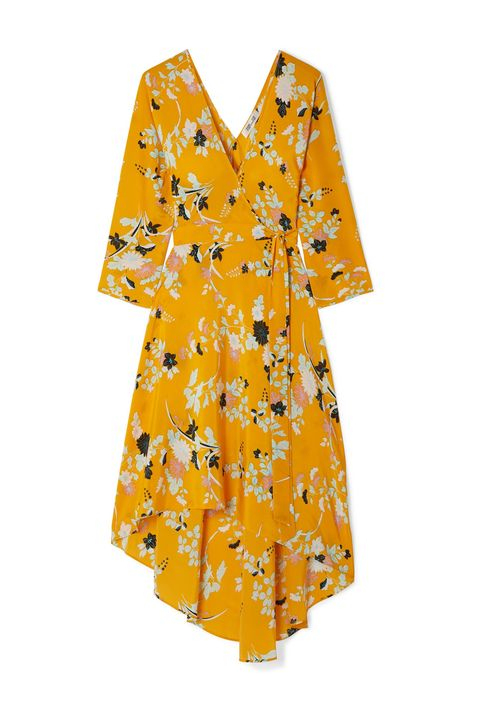 Clothing, Day dress, Yellow, Dress, Orange, Sleeve, Cover-up, Robe, Nightwear, Costume,