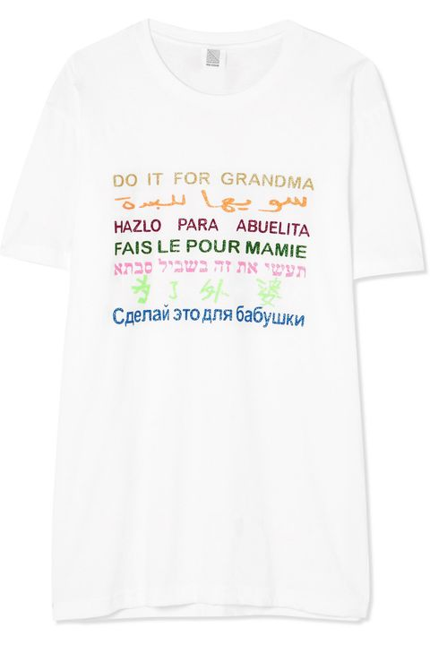 T-shirt, White, Clothing, Text, Product, Top, Active shirt, Font, Sleeve, Pink,