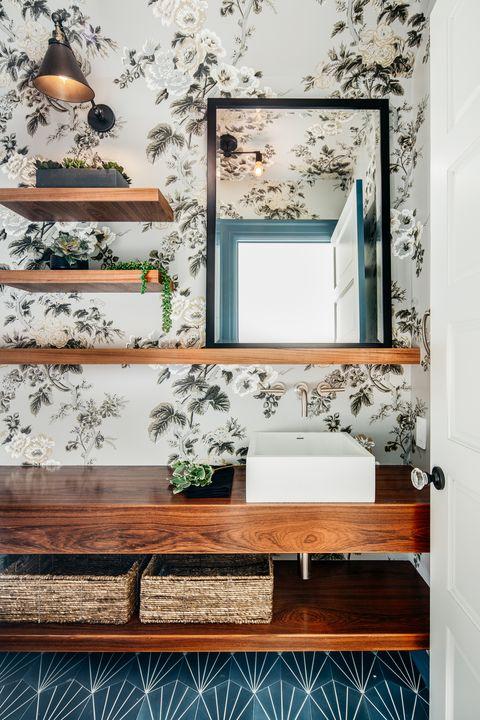 Shelf, Wall, Furniture, Room, Interior design, Wallpaper, Home, Shelving, Floor, Table,