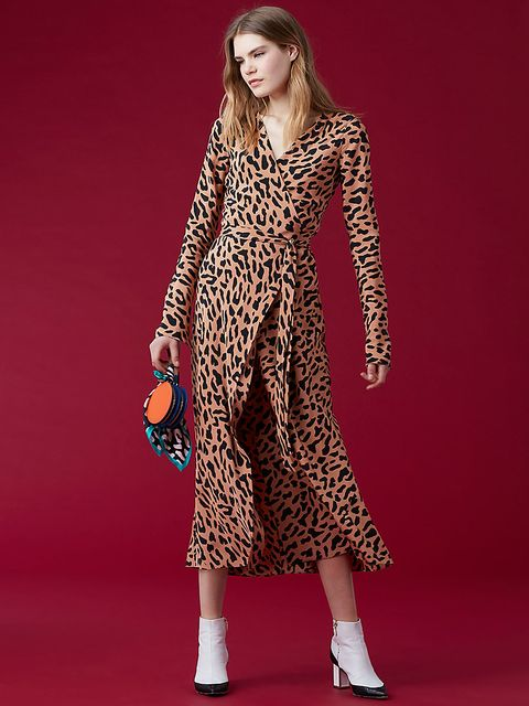ab66b671f4b40 What to Shop at Diane Von Furstenberg's Sale - DVF Wrap Dress On Sale