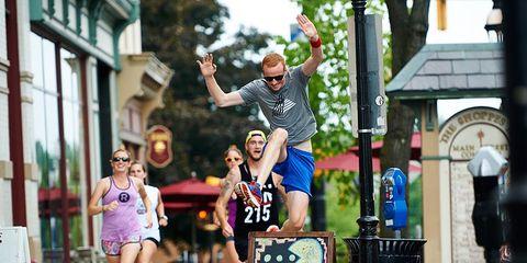 Runners running