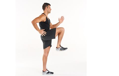 high knee warmup