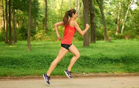 runner exhibiting good posture