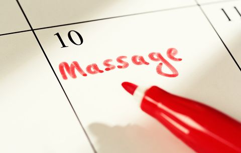 scheduling a massage