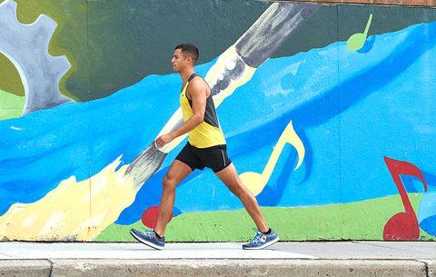 runner walking to start
