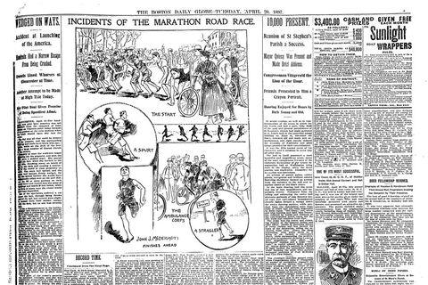 Boston Marathon 1897 newspaper article
