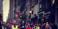 Robert running the Philadelphia Marathon