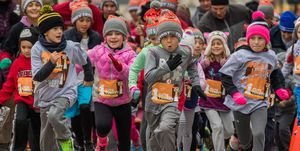 Much of the Turkey Trot's modern-day popularity can be attributed to its family-friendly draw.