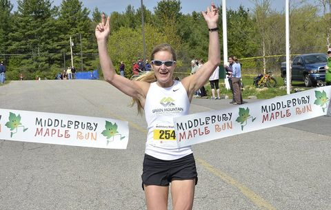 middlebury maple run half marathon women winner