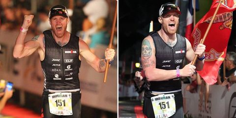 former marines races ironmans for fallen soldiers