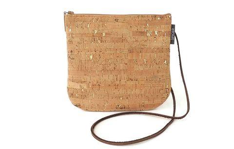 Gold-Flecked Cross-Body Bag