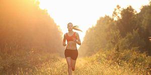 Intense outdoor workout