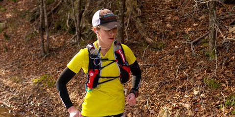 Aliza Lapierre running 2014 Mount Mitchell Challenge
